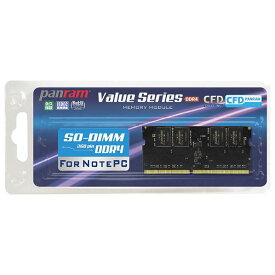 CFD DDR4-2666 ノート用メモリ 260pin SO-DIMM 16GB Panram D4N2666PS-16G [D4N2666PS16G]