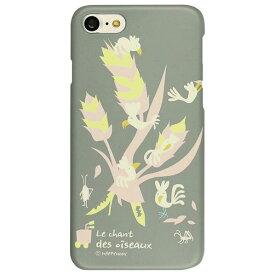 Happymori iPhone8/7用Bird Tree グレー HM8223I7 [HM8223I7]