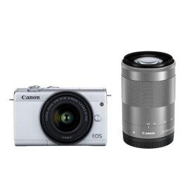 キヤノン デジタル一眼カメラ・ダブルズームキット EOS M200 ホワイト EOSM200WHWZK [EOSM200WHWZK]【RNH】【SDSP】