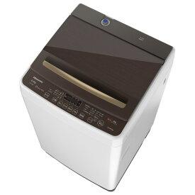 ハイセンス 8.0kg全自動洗濯機 ホワイト/ブラウン HW-DG80A [HWDG80A]【RNH】