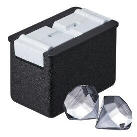 ドウシシャ 透明氷 ダイヤモンド型 otona ブラック DCI20DM [DCI20DM]