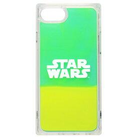 PGA iPhone SE(第2世代)/8/7/6s/6用ネオンサンドケース STAR WARS ロゴ/グリーン&イエロー PG-DLQ20M15SW [PGDLQ20M15SW]【MMPT】