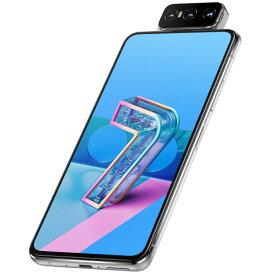 ASUS SIMフリースマートフォン ZenFone 7 パステルホワイト ZS670KS-WH128S8 [ZS670KSWH128S8]【MMPT】