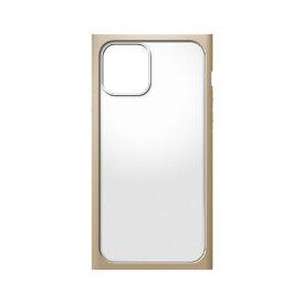 PGA iPhone 12 mini用ガラスタフケース スクエア型 Premium Style ベージュ PG-20FGT07BE [PG20FGT07BE]【JNMP】
