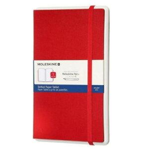 モレスキン・ジャパン ペーパータブレット ドット L MOLESKINE+ レッド PTNL34HF201 [PTNL34HF201]