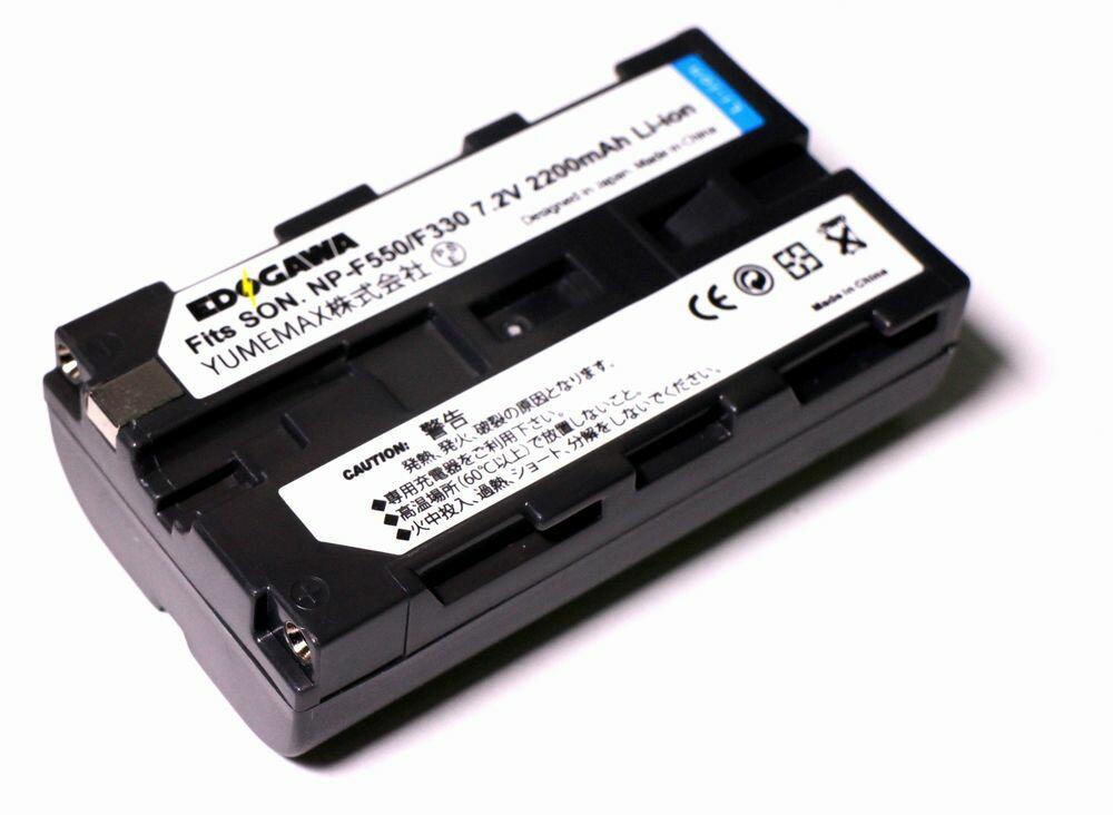 EDOGAWA SONY ソニー NP-F550/F330対応互換バッテリー (ED-BAT)