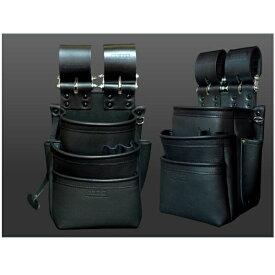 ニックス KB-301SPDX 自在型チェ−ンタイプ 総グローブ革3段腰袋 テ−プフッカ−付 黒 新品 KB301SPDX KNICKS