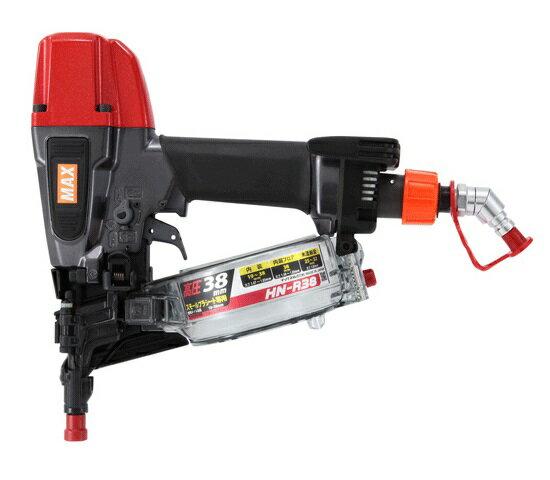 送料無料(一部地域除く)!マックス HN-R38G ク−ルグレー プラシ−ト専用高圧釘打機 新品