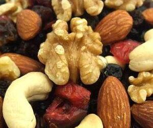 【メール便送料無料】ベリーナッツミックス280g アーモンド・カシューナッツ・くるみ・ブルーベリー・クランベリー・レーズン ドライフルーツ 美容と健康に嬉しいビタミンB1・ビタミンE・