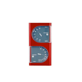 タニタ アナログ温湿度計 メタリックレッド (TT-518-MR)
