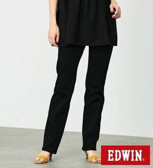 【Miss EDWIN】ハタラクロ ストレートパンツ ミスエドウイン