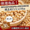 平成30年度産【大豆/おおつる】30kg/30キロ【送料無料・送料込み(一部除く)】有機肥料100%(検査1等級相当)最高ラ…