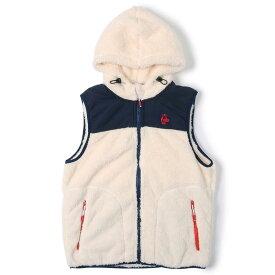 チャムス フリース ベスト メンズ エルモフリースベスト CH04-1244 Ivory/Navy CHUMS Elmo Fleece Vest