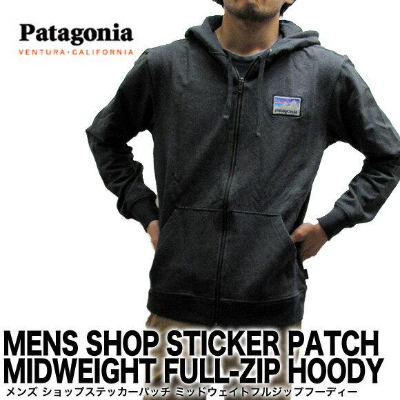 【送料無料】Patagonia パタゴニア パーカー 39497 メンズ ショップ ステッカー パッチ ミッドウェイト フルジップ フーディー MENS SHOP STICKER PATCH MIDWEIGHT FULL-ZIP HOODY