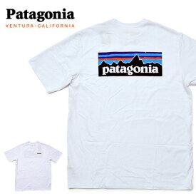 【メール便配送】Patagonia パタゴニア Tシャツ 38504 Patagonia ロゴ メンズ P-6ロゴ・レスポンシビリティー Tシャツ シロ ホワイト 大きいサイズ