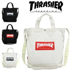 THRASHER スラッシャー バッグ トートバッグ ショルダーバッグ コットン キャンバス 2WAY トートショルダー THC803