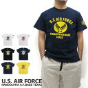 U.S. AIR FORCE ユーエスエアフォース Tシャツ 半袖 RANDOLPH A.F.BASE TEXAS アメリカ軍 米軍 US AIR FOCE ミ...