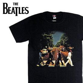 【メール便対応】THE BEATLES ビートルズ バンドTシャツ 半袖 BG-0002-BK Abbey Road TEE アビイロード 半袖Tシャツ