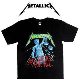 【メール便対応】METALLICA メタリカ バンドTシャツ 半袖 BG-0011-BK And Justice For All TEE 半袖Tシャツ