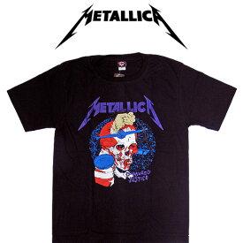【メール便対応】METALLICA メタリカ バンドTシャツ 半袖 BG-0012-BK And Justice For All TEE 半袖Tシャツ