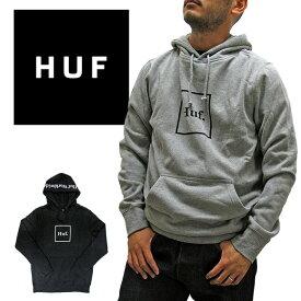 ハフ パーカー HUFエッセンシャル ボックス ロゴ フード PF00098 プルパーカー 定番モデル 正規品 USA