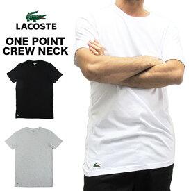 ラコステ LACOSTE 半袖 Tシャツ ワンポイント クルーネック メンズ 男性用 ホワイト グレー ブラック