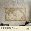 タペストリー 世界地図 地図 壁掛け アンティーク かわいい 美容院 ヴィンテージ レトロ カフェ おしゃれ
