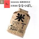 特別栽培米 北海道産 ななつぼし 玄米 米 5kg 28年産放射能検査 検出なし
