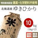 【送料無料】特別栽培米(農薬・化学肥料不使用)29年産 北海道産ゆきひかり [お米 玄米 10kg]※放射能検査・残留農薬…