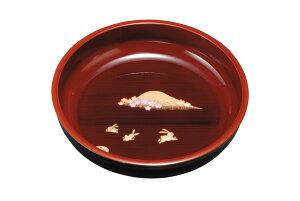 紀州漆器 8.0菓子鉢 春慶塗 故郷 21084