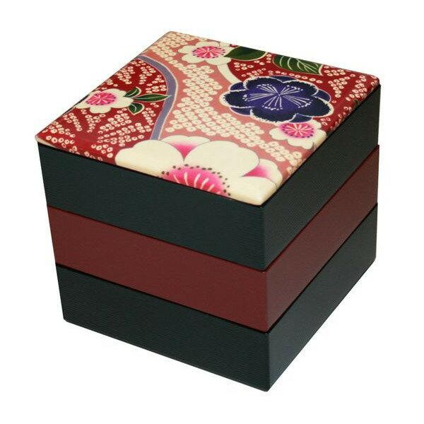 【送料無料】 布貼 16.5角三段重箱 桜ピンク 001-1738 (紀州漆器の重箱、日本製、国産の重箱、おしゃれ(モダン)な重箱、運動会に重箱、迎春(お正月)に重箱、お花見、行楽に重箱、ランチボックス、弁当箱、塗の重箱)祝重箱 塗重箱 重箱