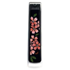 蒔絵 爪切り スワロフスキー桜 001-1251(漆器 記念品 お土産 海外向けギフト)