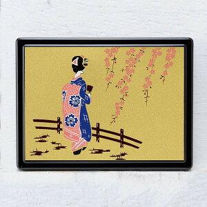 蒔絵 付箋ケース「雅」 スワロフスキー舞妓 紙箱入り(付箋入れ ポストイットケース)