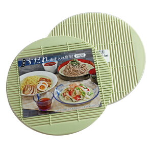 すだれ 樹脂製 2枚組 16.5cm(ざるうどん 天ぷら皿 寿司皿)