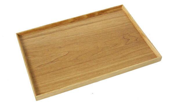 【トレー】長角膳 ナチュラル 45cm(木製 トレイ お盆 会席膳 ランチョンマット カフェ 北欧 業務用 木製トレー)
