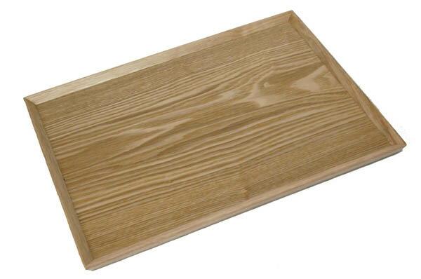 トレー 羽反長角膳 ナチュラル 45cm(木製 トレー お盆 会席膳 ランチョンマット カフェ 北欧 業務用 木製 トレイ)