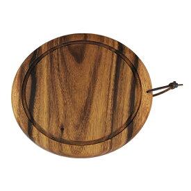 アカシア 食器 木製 ラウンド カッティングボード カフェ風トレイ 21944(おしゃれな アカシア 食器 プレート トレイ。大人気の アカシア 食器 プレート トレイ。丈夫な アカシア 食器 プレート トレイ。カフェ風の アカシア 食器 プレート トレイ)