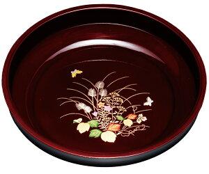 紀州漆器 8.0菓子鉢 溜 さがの 22576/21605