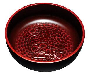 紀州漆器 7.5菓子鉢 鎌倉 梅彫 22579/216011