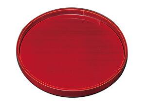 木製トレー 紀州漆器 10.0丸盆 厚渕 春慶塗 2482B(運び盆 トレー)