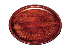 紀州漆器 10.0丸盆 皿型 茶染 22105c/21103c(運び盆 トレー)