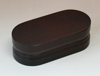 日本纪州柏树材料凡达午餐盒 2 型棕色 nanocoat (启用的食品清洗机) 001-1465 (木材,脱皮,便当,车厢、 午餐盒、 男子、 妇女、 孩子,与孩子们)