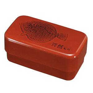紀州漆器 お弁当箱 長角入子 (大) 根来ひらめ シール中蓋付き 電子レンジ・食洗機対応 (中子なし)