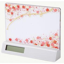 蒔絵 時計付き 写真立て「集い」 花束(白) (紙箱入り)(フォトフレーム)