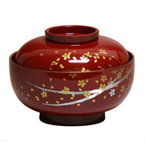雑煮椀 はるか 朱 (多用椀 お好み椀)001-1456
