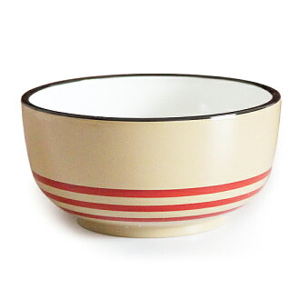Maturi No Eemon Bowl Border Red Dishwasher And Microwave Safe