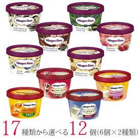 [20%OFF] ハーゲンダッツ アイスクリーム ミニカップ 17種類から2種類選べる12個(6個×2種類)セット