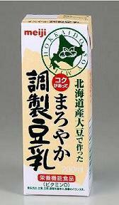 明治 まろやか調整豆乳 200ml×18本