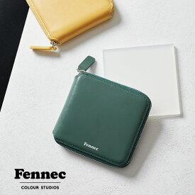 Fennec Zipper Wallet フェネック レディース 財布 二つ折り 二つ折 ラウンドファスナー 薄い コインケース付 レザー コンパクト 二つ折り財布 ブランド 韓国ファッション 娘 誕生日 クリスマス プレゼント ギフト