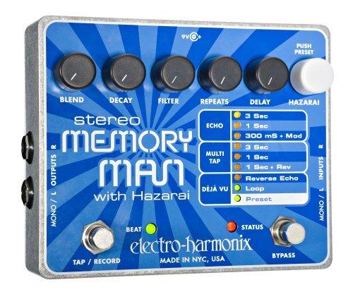 【レビューを書いて次回送料無料クーポンGET】Electro-Harmonix Stereo Memory Man with Hazarai 国内用電源アダプター付属 エフェクター [並行輸入品][直輸入品]【エレクトロ・ハーモニクス】【エレクトロハーモニクス】【新品】【RCP】